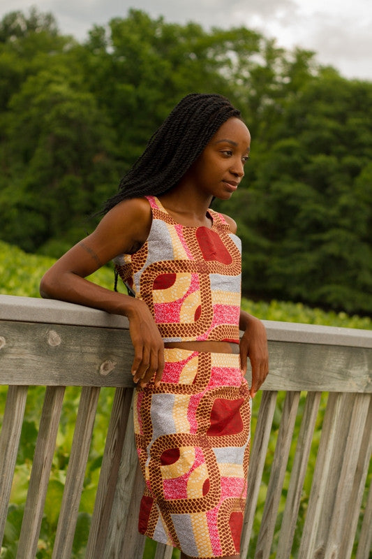 The Paths to LaBré Top and Skirt Set