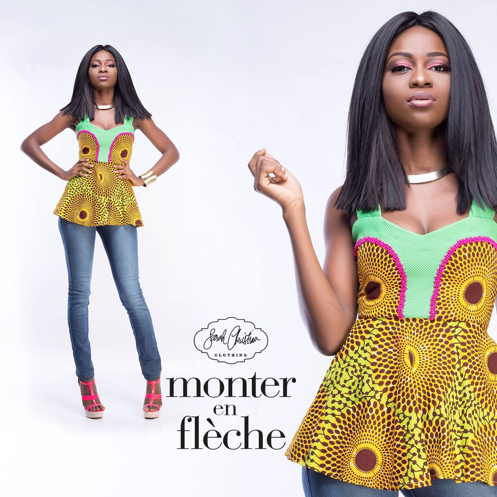 Ankara Beaded Flare Top