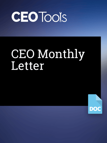 CEO Monthly Letter