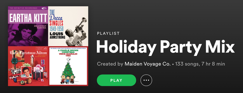 Holiday Playlist 2020