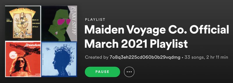 March 2021 Playlist