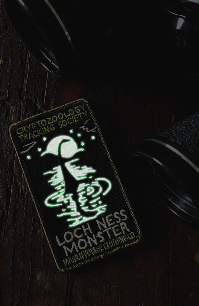 PREORDER - Loch Ness Monster Patch - Cryptozoology Tracking Society - Glow in the Dark