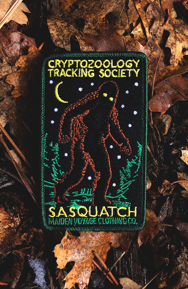Track Don't Trap Patch - Cryptozoology Tracking Society - Glow in the Dark