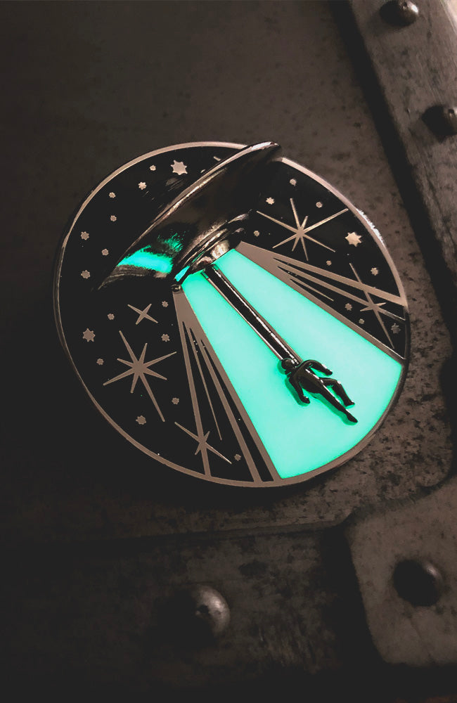FINAL SALE - Seconds - UFO Alien Abduction Enamel Pin - Pick Your Damage