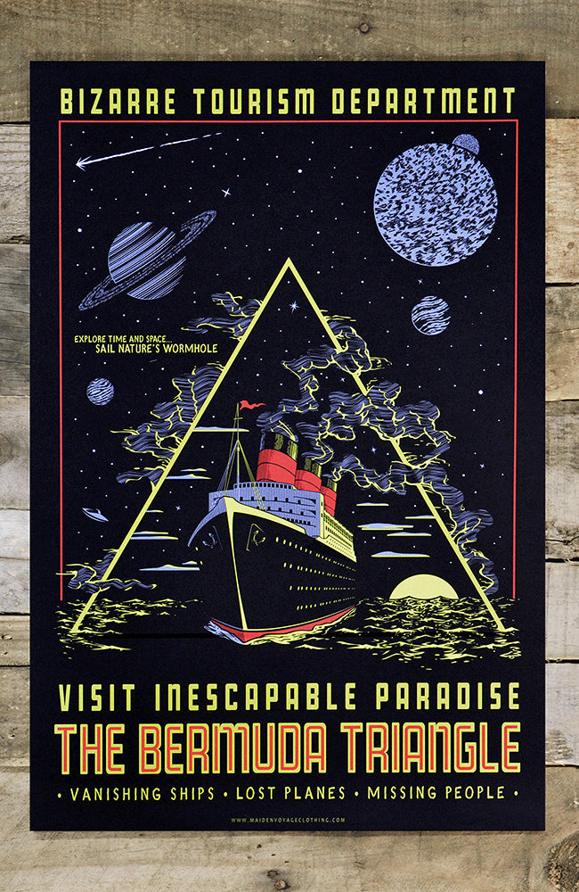 Bermuda Triangle - Glow in the Dark Poster