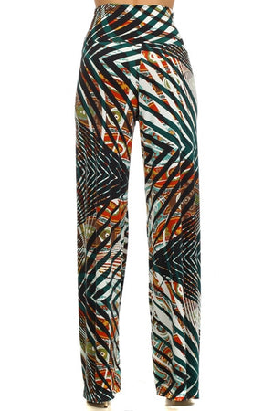 High Waisted Multi Colored Bohemian Pants