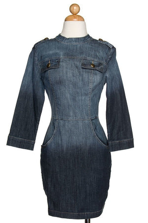Hi To Lo Fade Denim Dress