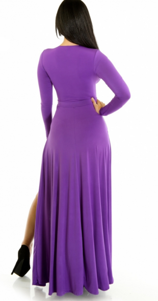 Floor Length Special Occasion Purple Dress