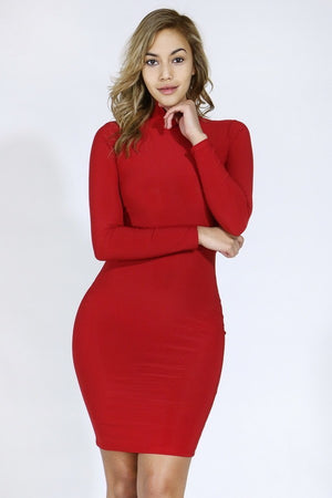 Red Dress With Back Cutout