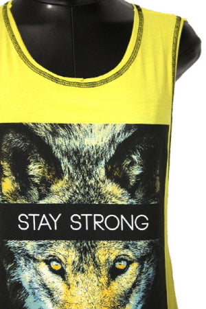 Yellow Stay Strong T-Shirt