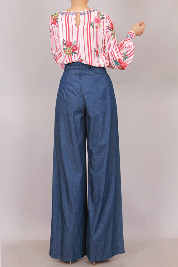High Waisted Denim Pant