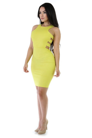 Citron Yellow Cutout Dress