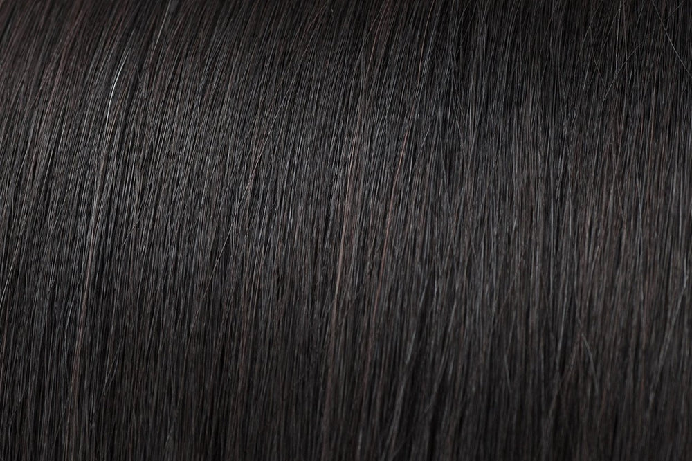 Hair Wefts: Natural Black #1B