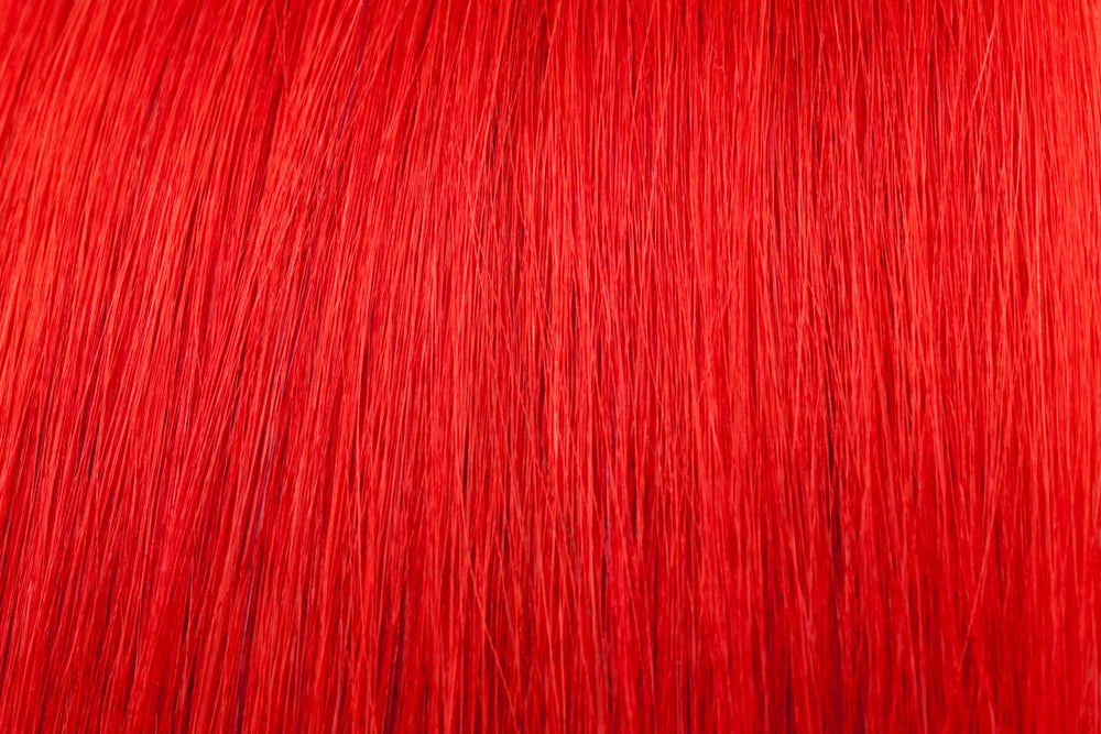 Hair Wefts: Red
