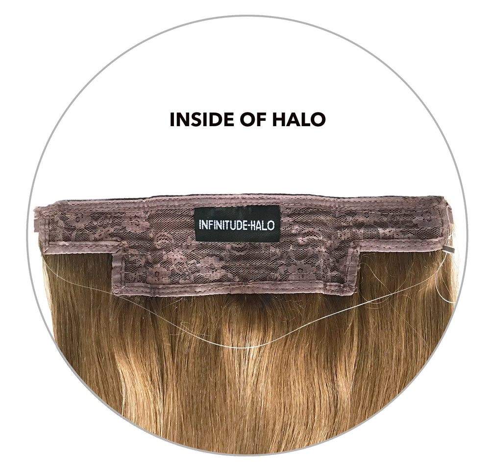 Halo Hair Extension: Lightest Brown #8