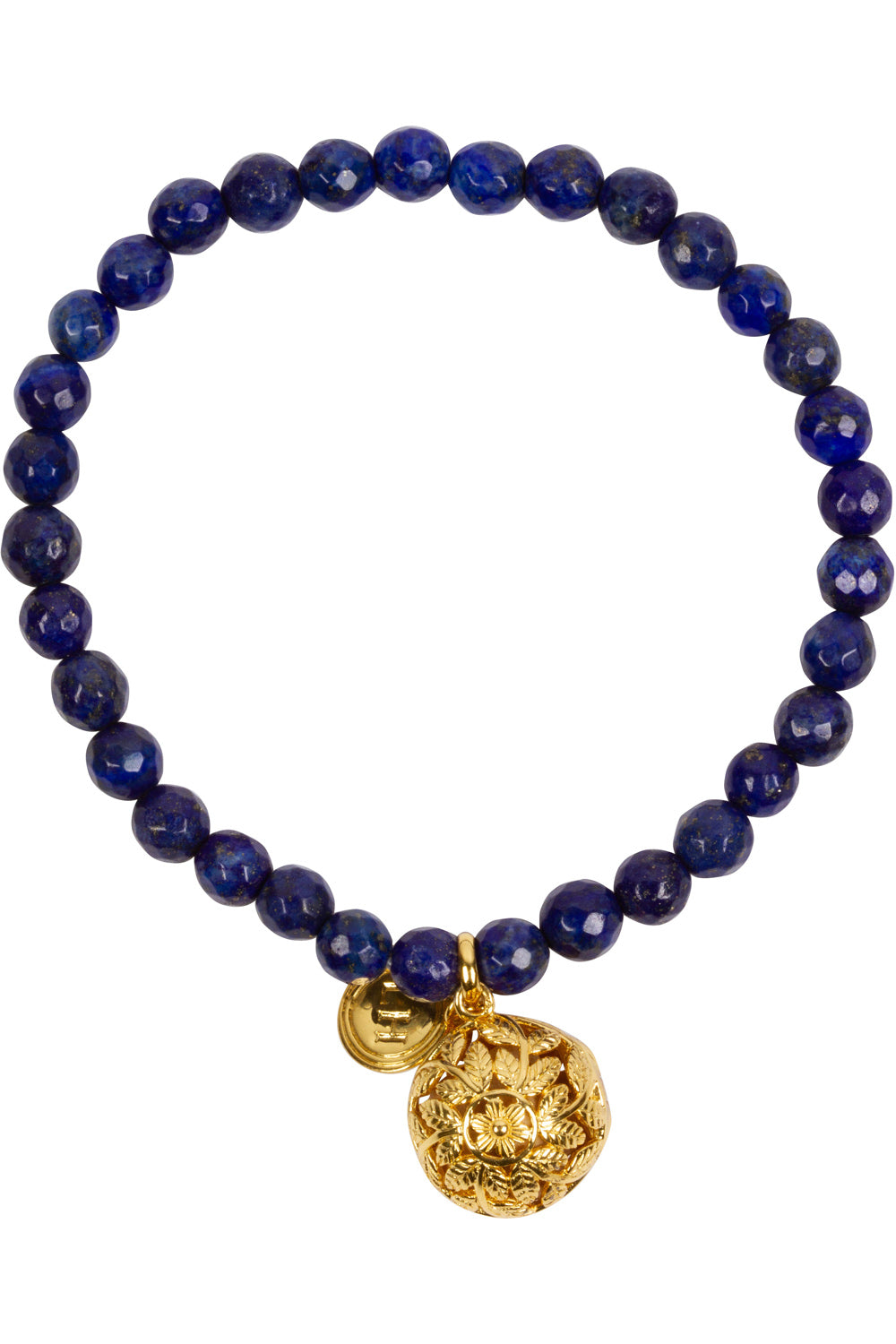 Lapis Fragrance Bracelet with Flora Charm