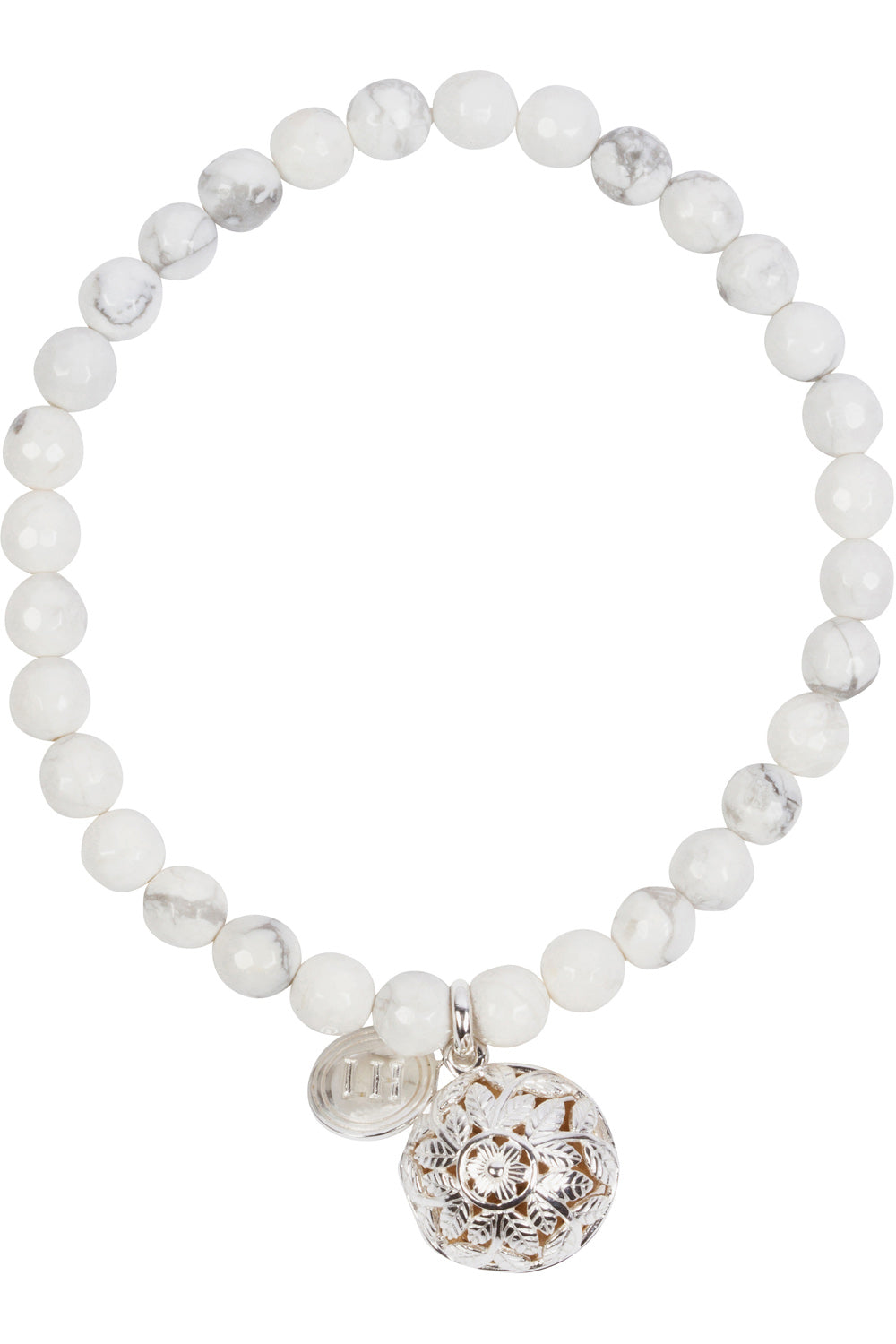 Dolomite Fragrance Bracelet with Flora Charm
