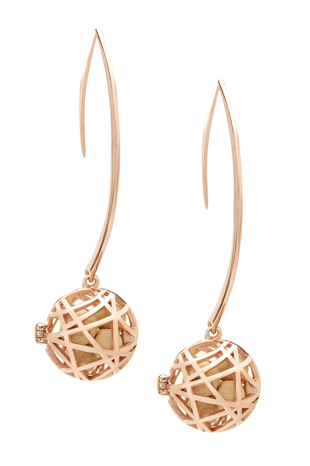 Nest Earrings - Rose Gold