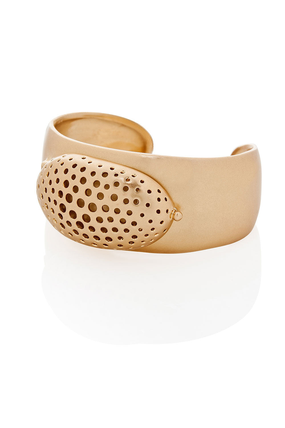 Tom Binns Brushed Gold Cuff