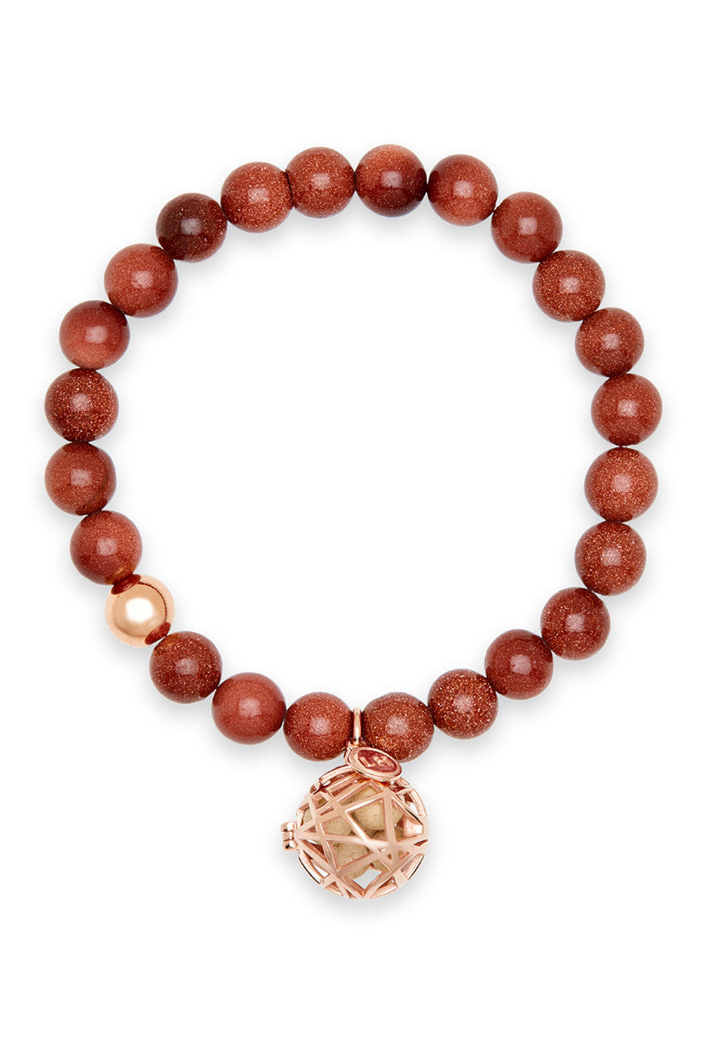Cauda Bracelet with Rose Gold Nest Charm