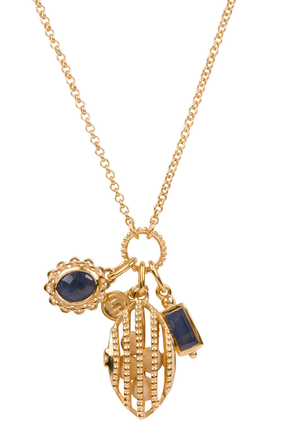 Crest Charm Necklace - Gold