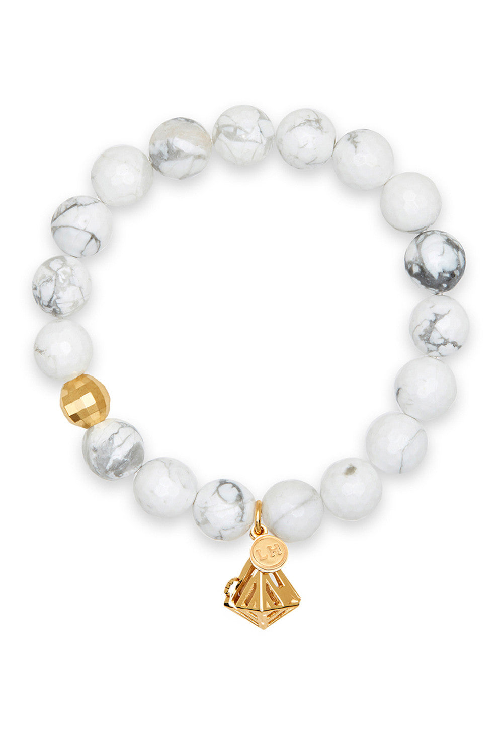 Aura Bracelet with Gold Geo-Gem Charm