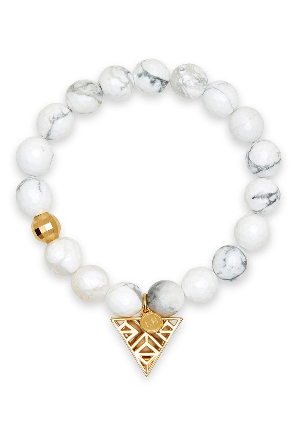 Aura Bracelet with Gold Tri-Point Charm