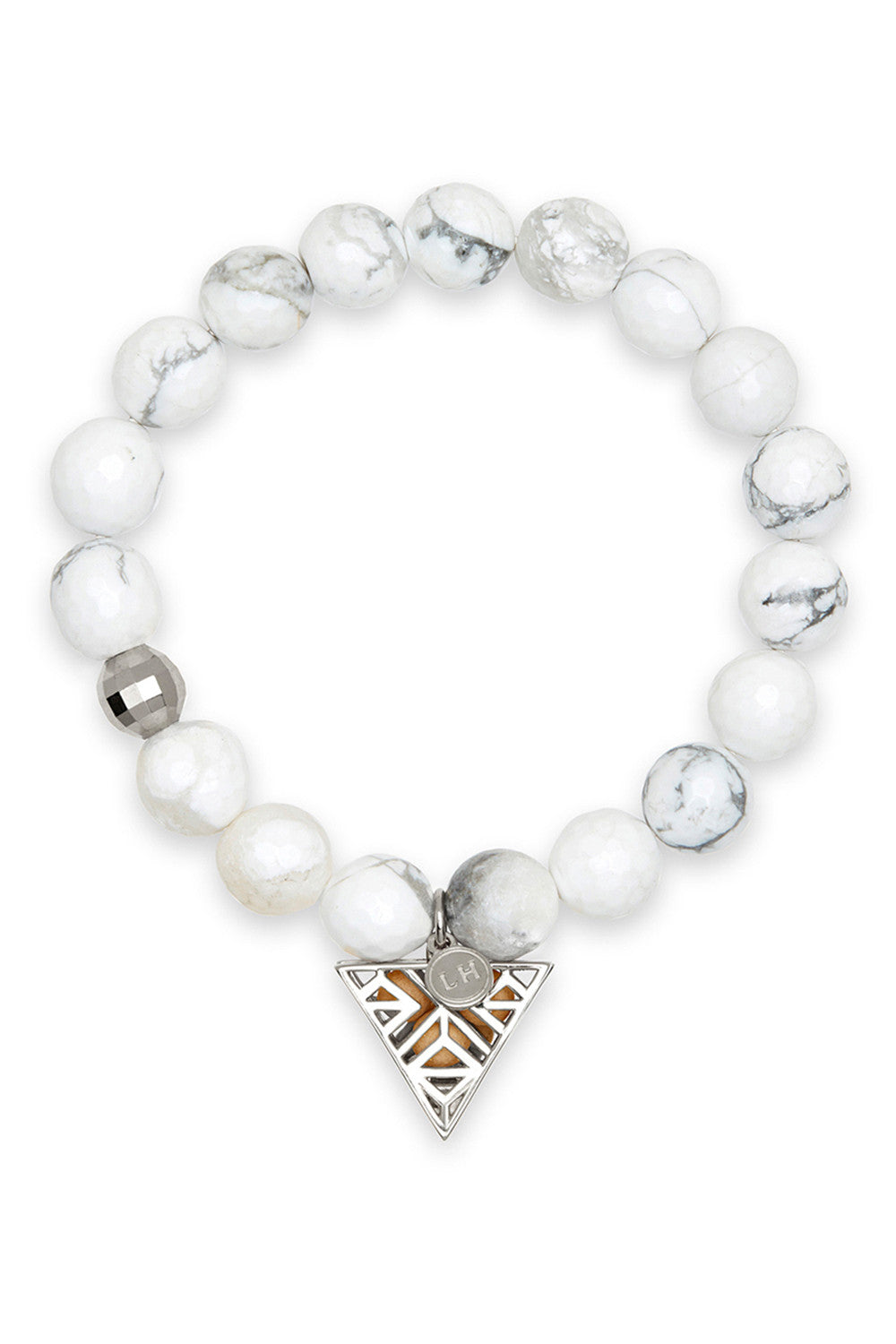 Aura Bracelet with Silver Tri-Point Charm