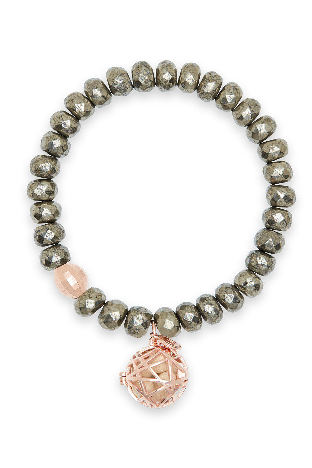 Iris Bracelet with Rose Gold Nest Charm