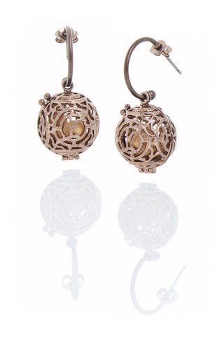 Bronze Fragrance Earrings