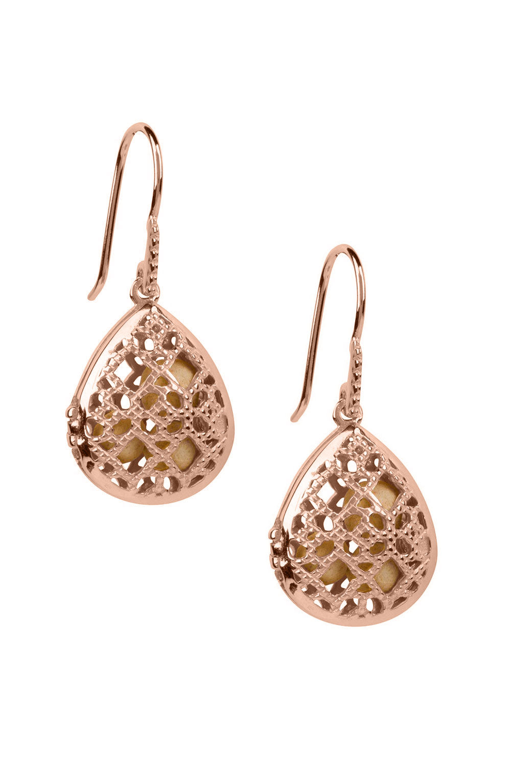Laurel Earrings - Rose Gold