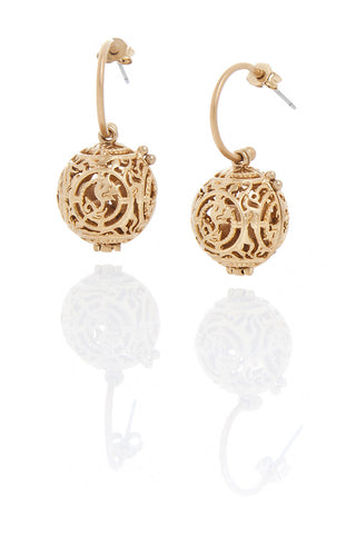 Brushed Gold Fragrance Earrings