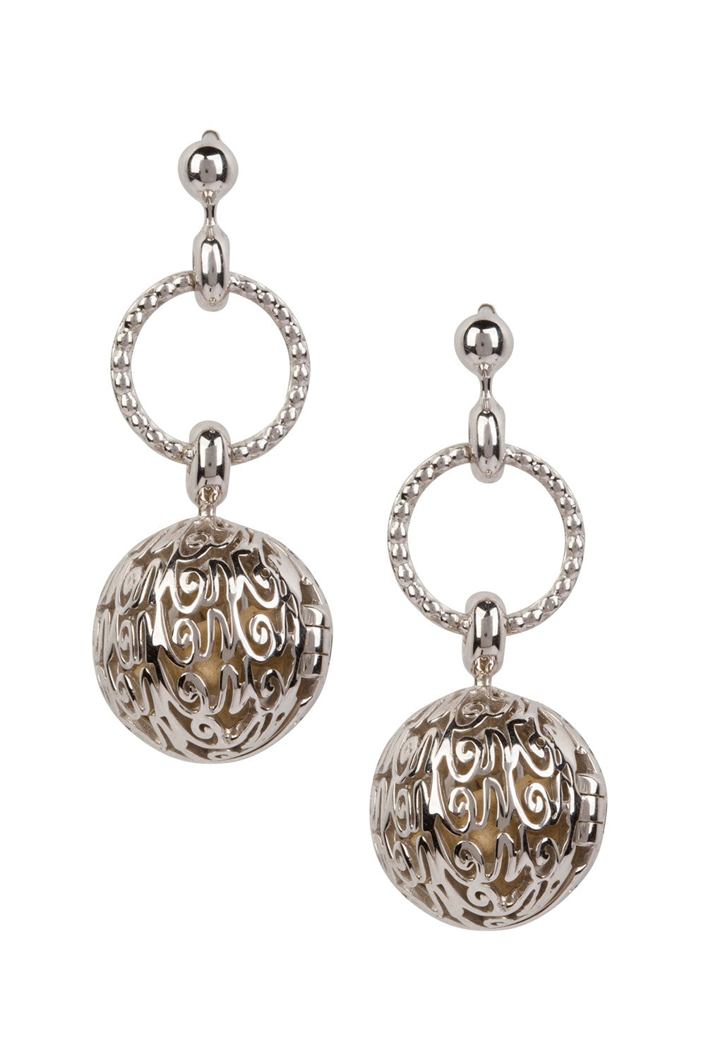 Manor Hoop Drop Earrings - Silver