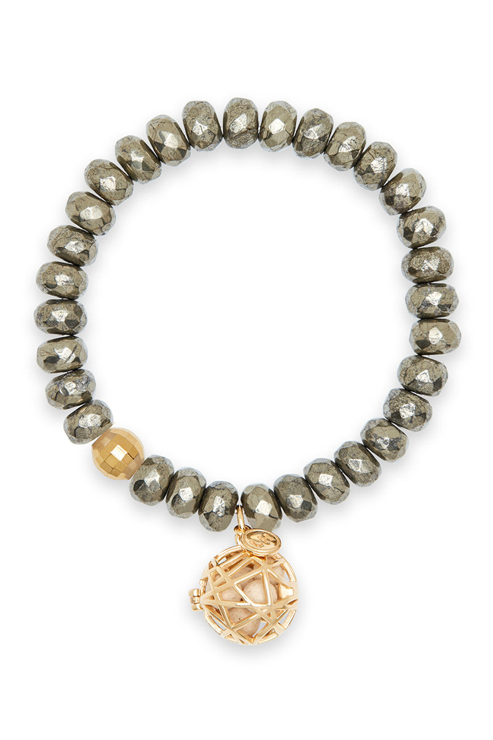 Iris Bracelet with Gold Nest Charm
