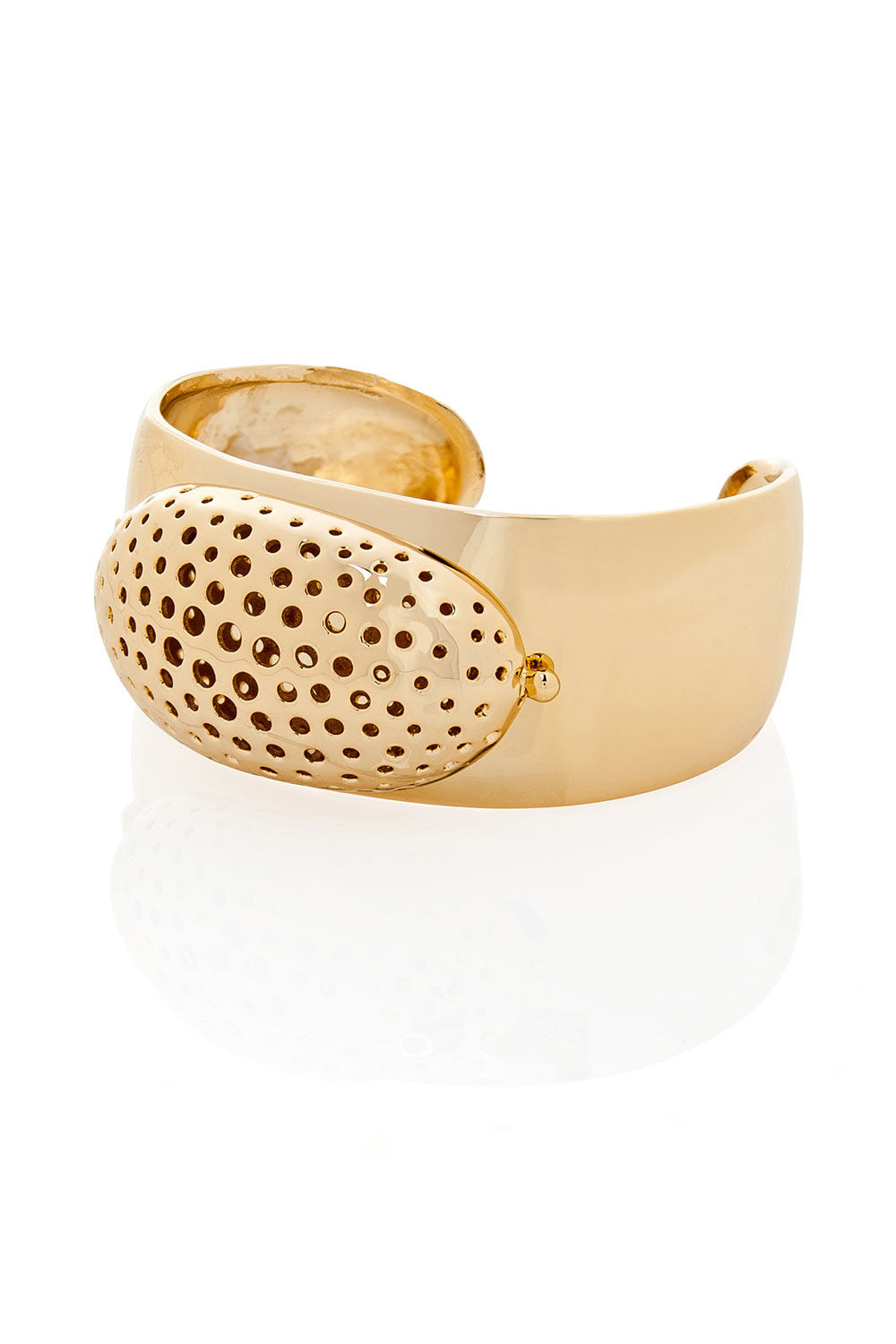 Tom Binns Shiny Gold Cuff