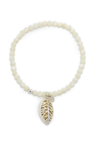 Alya Bracelet with Silver Laurel Charm