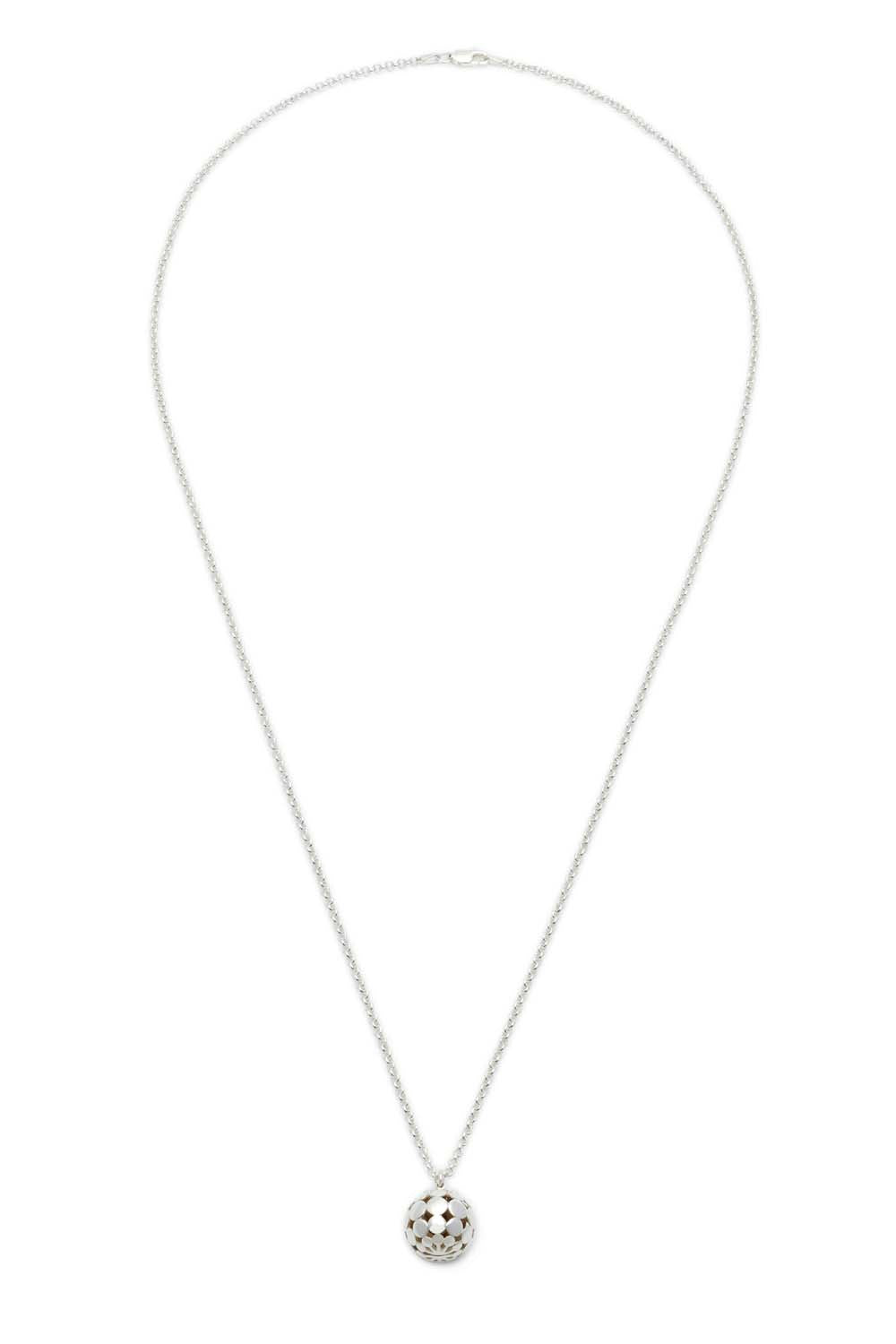 "30"" Hemisphere Necklace - Silver"