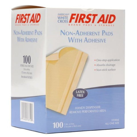 Nutramax Non-Adherent Pads with Adhesive, 100/box