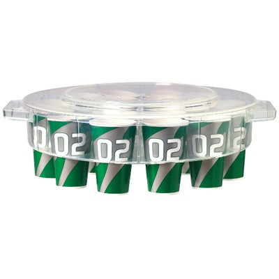Gatorade Clear Plastic Cup Dispenser with Lid