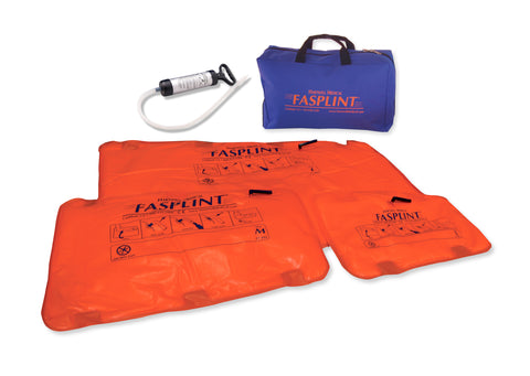 FASPLINT Semi-disposable Vacuum Splint Kit -  with compact Aluminum Pump