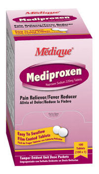 Medique Mediproxen Pain Reliever 1's 100pks/bx