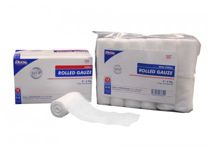 Dukal Rolled Gauze, 2-Ply, 5 yards