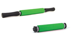 Theraband Hand Roller Massager, Portable Green Ridged