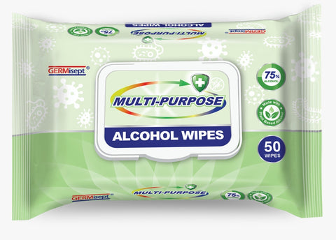 Alcohol Disinfecting Wipes, 50/pack