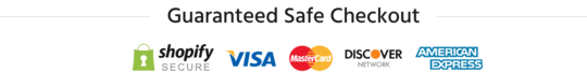 Guaranteed Safe Checkout with Visa, Mastercard, Discover and Amex