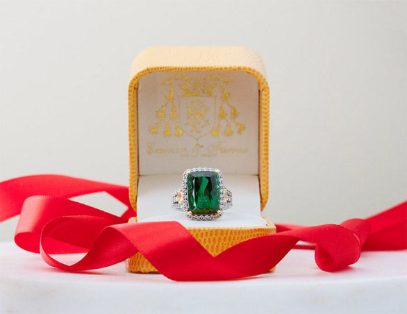 Emerald Estate Engagement Ring