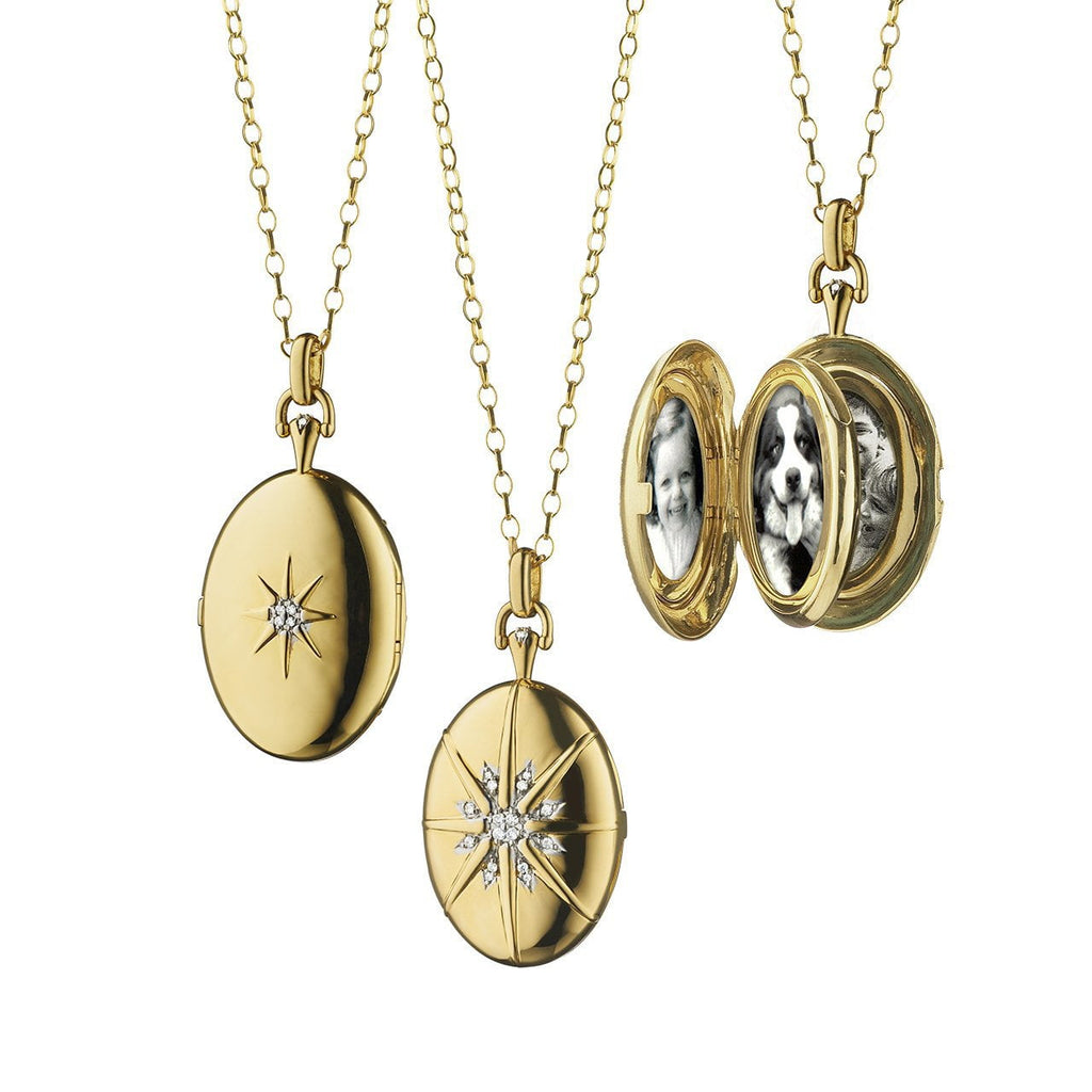Four-Image Locket with Diamonds Accents