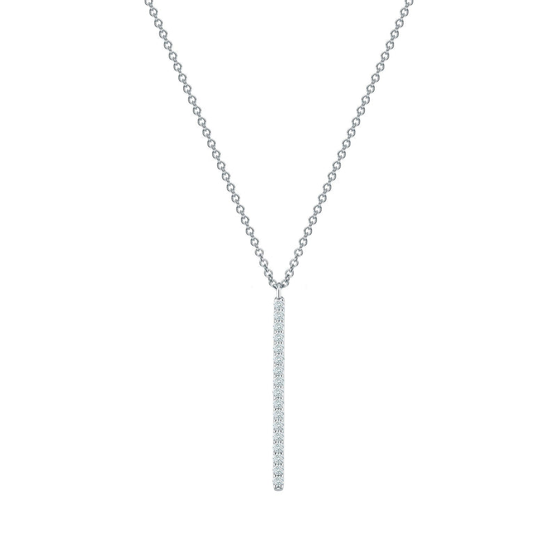 Birks Rosée Du Matin Vertical Diamond Bar Necklace Necklace