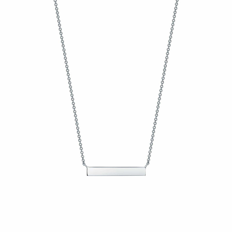 Birks - Silver Horizontal Bar Necklace, Necklace