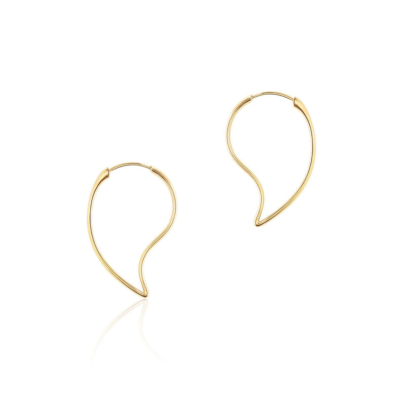 Birks Yellow Gold Hoop Earrings Earrings